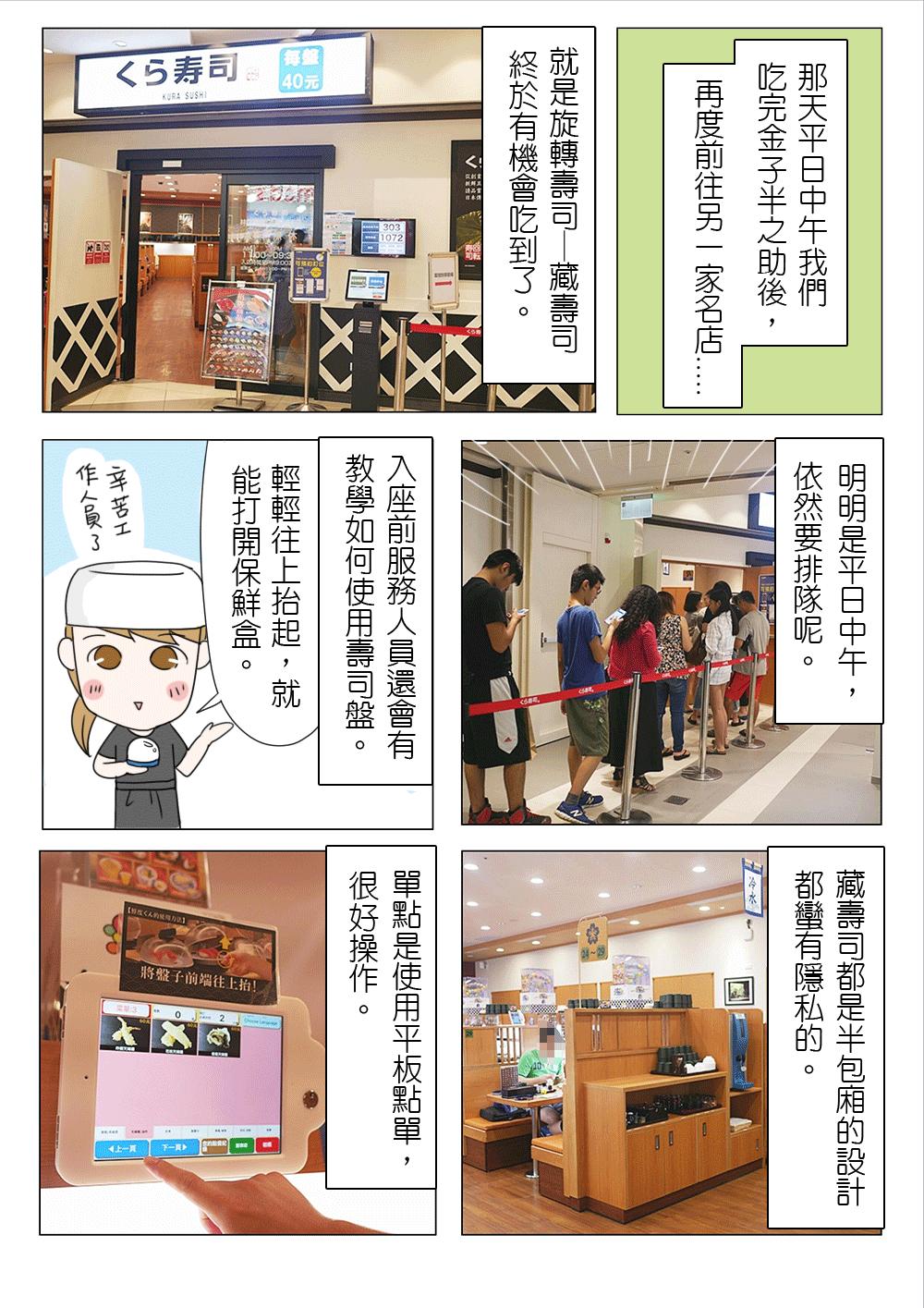 【漫畫食記】林口 三井Outlet 美食 藏壽司 くら寿司 好吃好玩有趣的旋轉壽司!