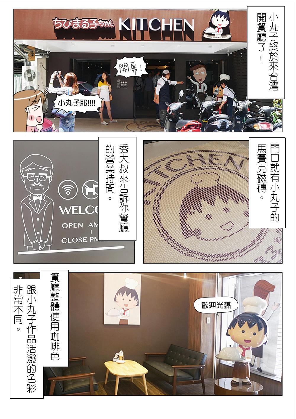 【漫畫食記】台北 櫻桃 小丸子餐廳 來台啦!日本唯一授權小丸子正版餐廳